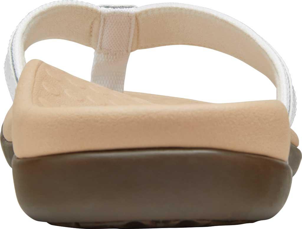 Women's Vionic Casandra Thong Sandal, White Leather, large, image 4