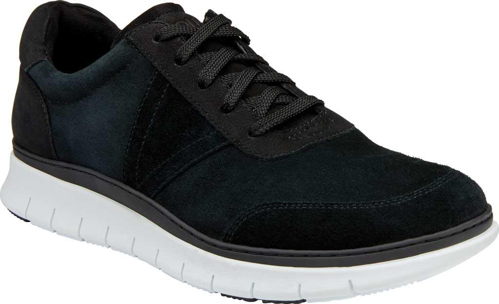 Men's Vionic Tanner Sneaker, Black Nubuck, large, image 1