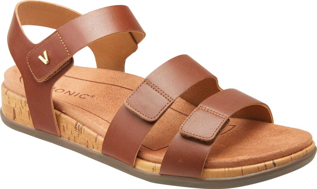 Women's Vionic Colleen Strappy Sandal, Cinnamon Leather, large, image 1