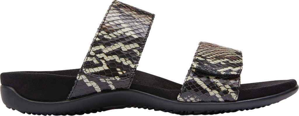Women's Vionic Randi Two Strap Slide, Black Boa Leather, large, image 2