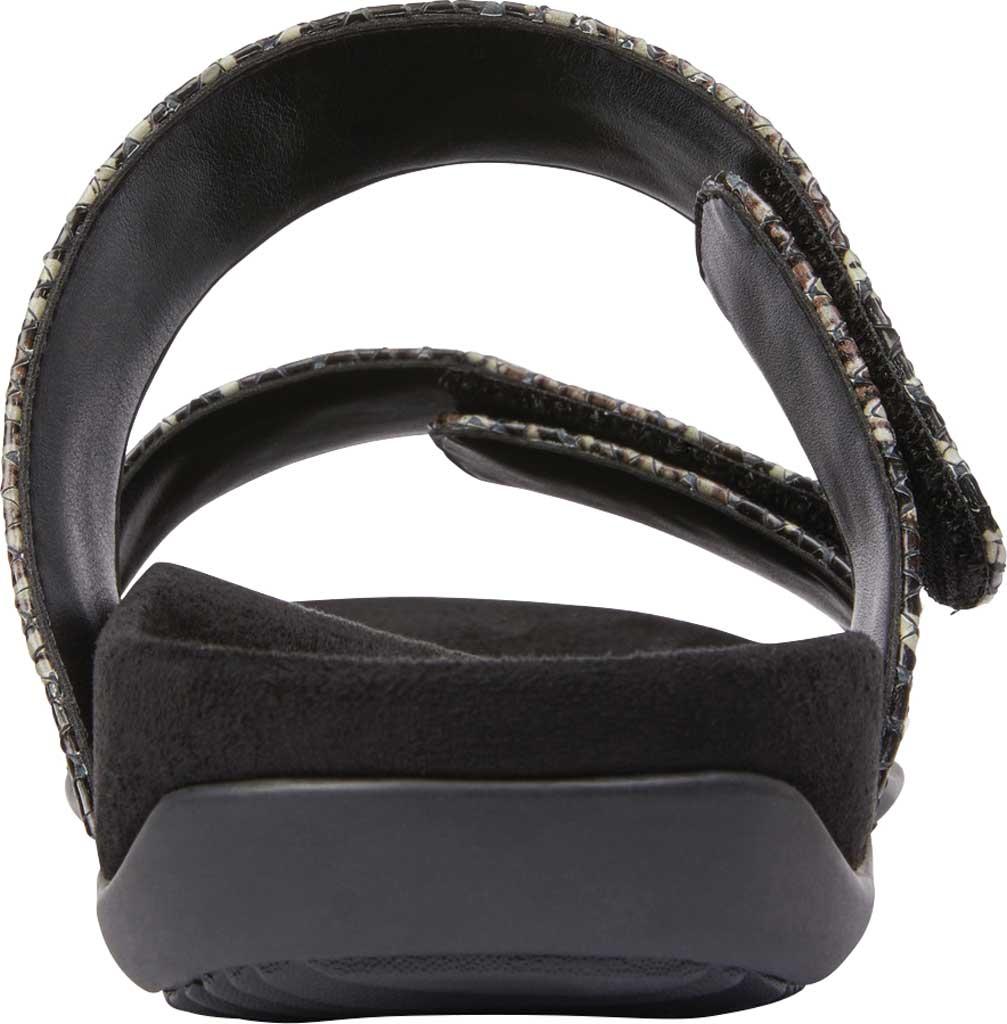 Women's Vionic Randi Two Strap Slide, Black Boa Leather, large, image 4