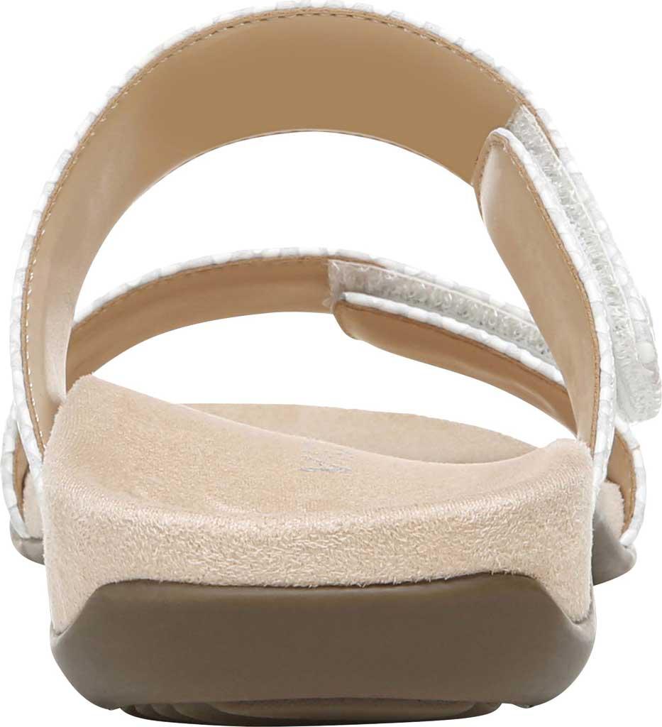 Women's Vionic Randi Two Strap Slide, White Lizard Print Leather, large, image 4