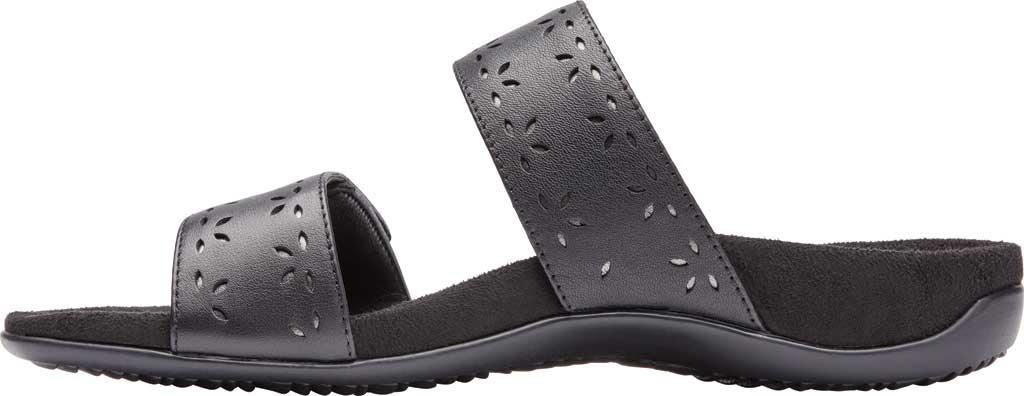 Women's Vionic Randi Two Strap Slide, Black Leather, large, image 2