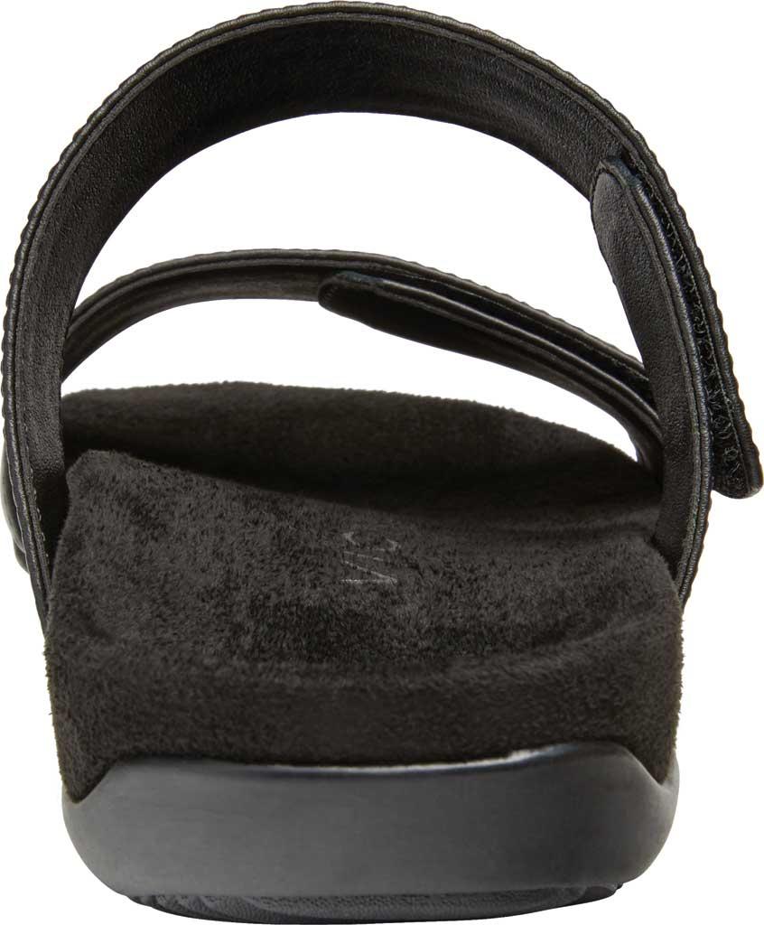 Women's Vionic Randi Two Strap Slide, Black Leather, large, image 3