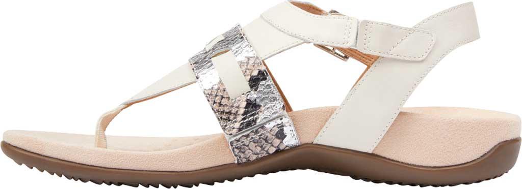 Women's Vionic Lupe Thong Sandal, Cream Boa Metallic Leather, large, image 3