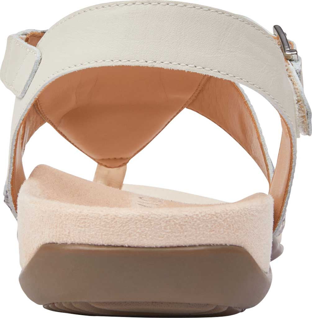 Women's Vionic Lupe Thong Sandal, Cream Boa Metallic Leather, large, image 4