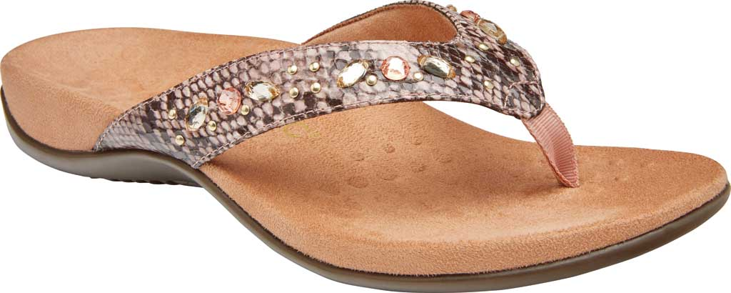 Women's Vionic Lucia Thong Sandal, Camelia Snake Skin Synthetic, large, image 1