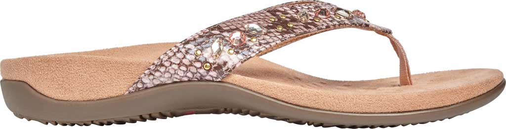 Women's Vionic Lucia Thong Sandal, Camelia Snake Skin Synthetic, large, image 2