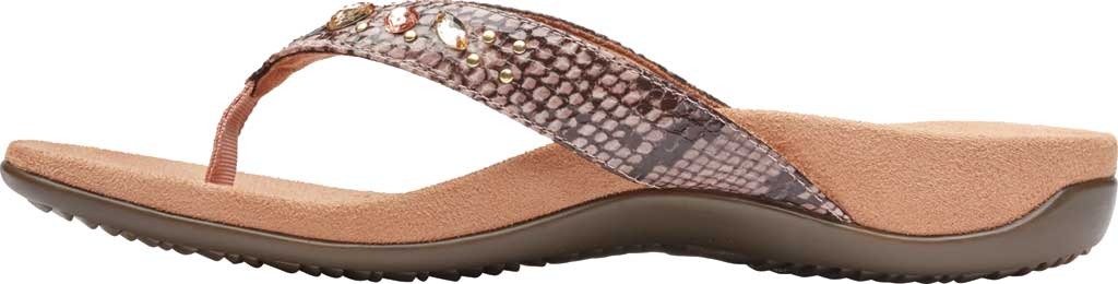 Women's Vionic Lucia Thong Sandal, Camelia Snake Skin Synthetic, large, image 3