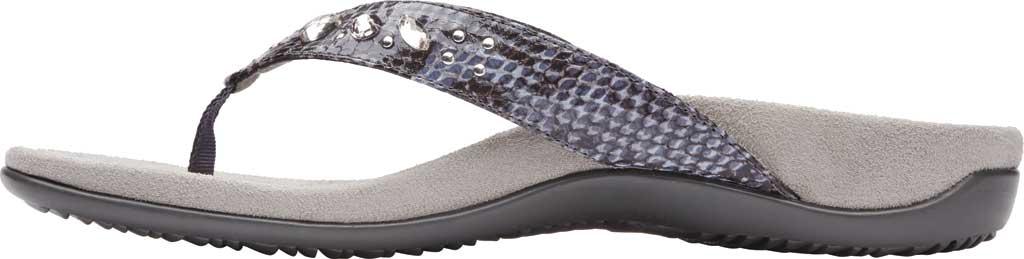 Women's Vionic Lucia Thong Sandal, Slate Grey Snake Skin Synthetic, large, image 3