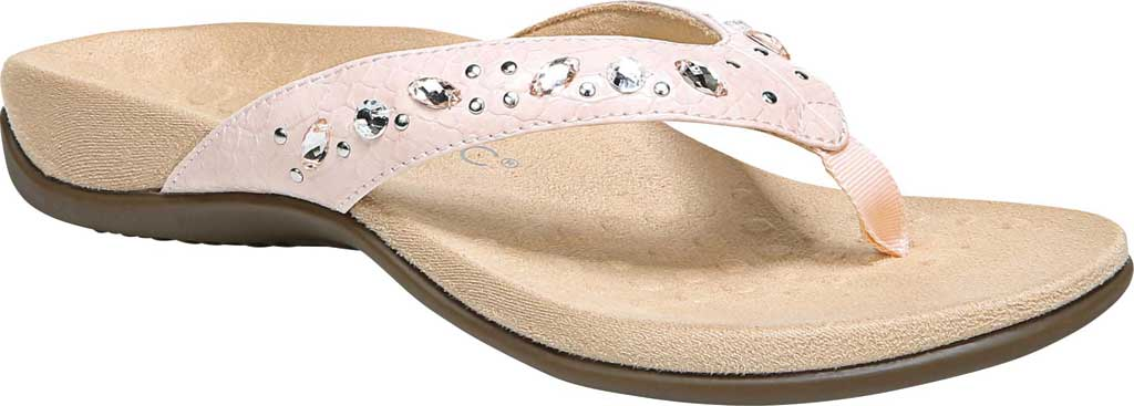 Women's Vionic Lucia Thong Sandal, Pink Python Synthetic, large, image 1