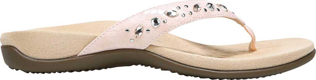 Women's Vionic Lucia Thong Sandal, Pink Python Synthetic, large, image 2