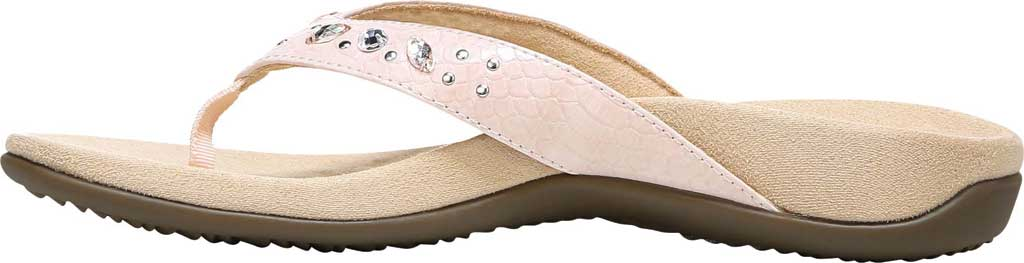 Women's Vionic Lucia Thong Sandal, Pink Python Synthetic, large, image 3