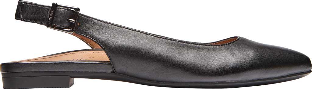 Women's Vionic Jade Flat Slingback, Black Nappa Leather, large, image 2