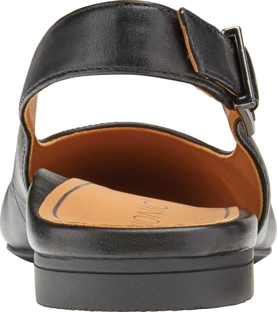 Women's Vionic Jade Flat Slingback, Black Nappa Leather, large, image 4