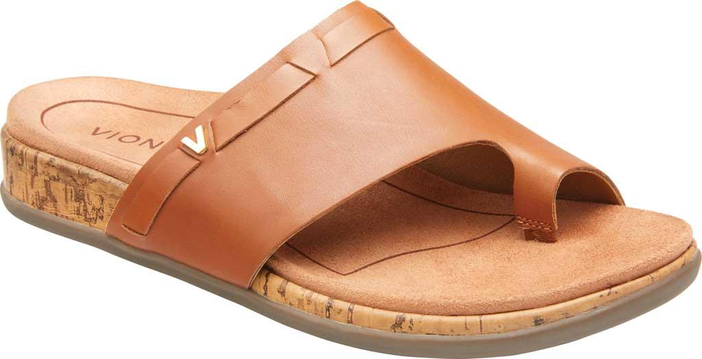 Women's Vionic Cindy Toe Loop Sandal, Tan Leather, large, image 1