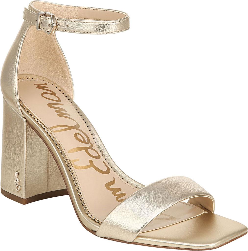 Women's Sam Edelman Daniella Ankle Strap Sandal, Molten Gold Leather, large, image 1