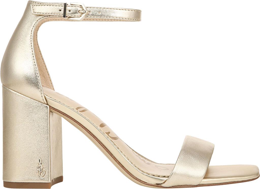 Women's Sam Edelman Daniella Ankle Strap Sandal, Molten Gold Leather, large, image 2