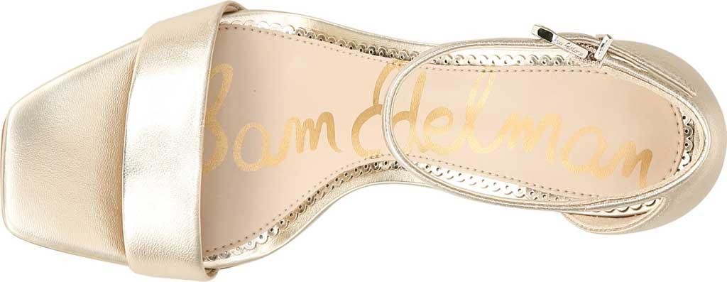 Women's Sam Edelman Daniella Ankle Strap Sandal, Molten Gold Leather, large, image 5