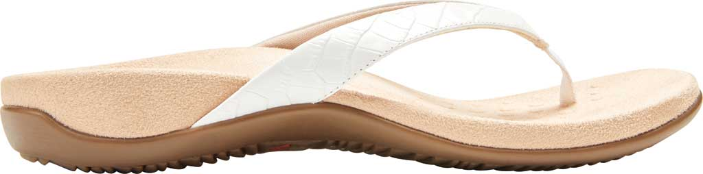 Women's Vionic Dillon Thong Sandal, White Croco Leather, large, image 2