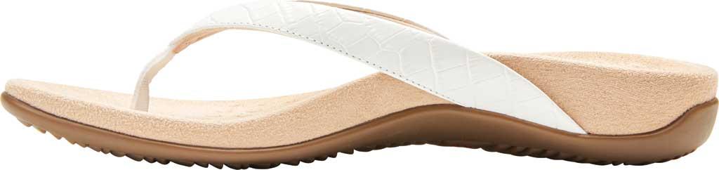 Women's Vionic Dillon Thong Sandal, White Croco Leather, large, image 3