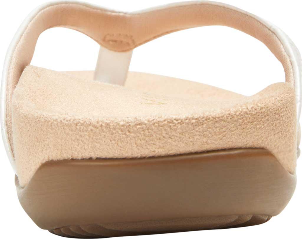 Women's Vionic Dillon Thong Sandal, White Croco Leather, large, image 4