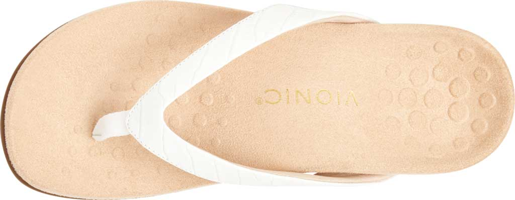 Women's Vionic Dillon Thong Sandal, White Croco Leather, large, image 5