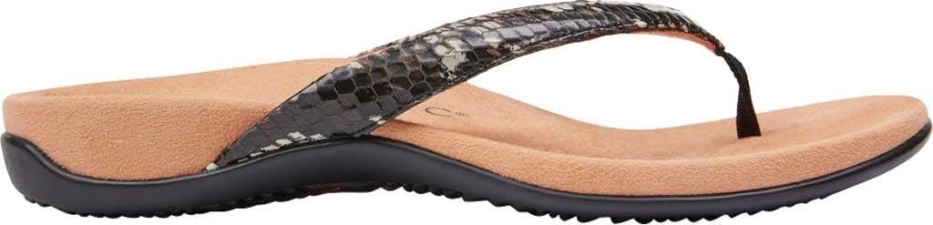 Women's Vionic Dillon Thong Sandal, Black Boa Leather, large, image 2