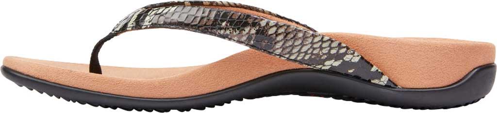 Women's Vionic Dillon Thong Sandal, Black Boa Leather, large, image 3