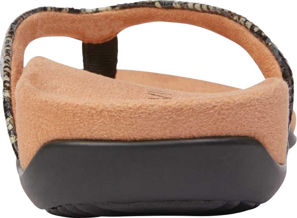 Women's Vionic Dillon Thong Sandal, Black Boa Leather, large, image 4