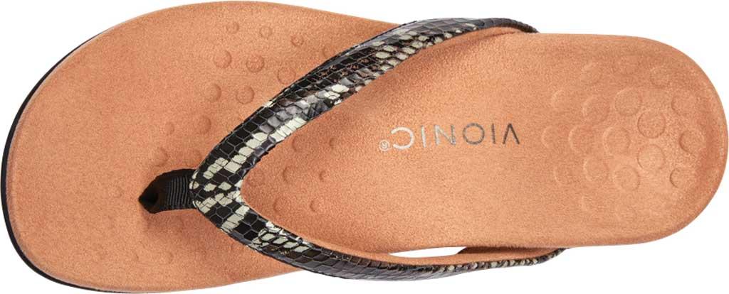 Women's Vionic Dillon Thong Sandal, Black Boa Leather, large, image 5