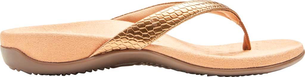 Women's Vionic Dillon Thong Sandal, Copper Snake Metallic Leather, large, image 2