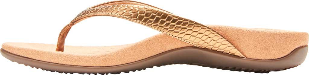 Women's Vionic Dillon Thong Sandal, Copper Snake Metallic Leather, large, image 3