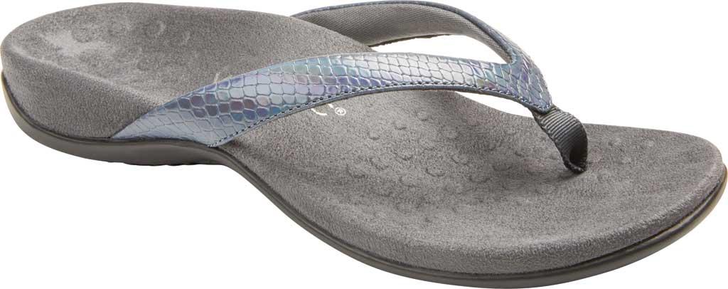 Women's Vionic Dillon Thong Sandal, Iridescent Snake Leather, large, image 1