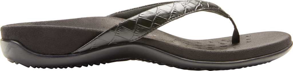Women's Vionic Dillon Thong Sandal, Black Croco Leather, large, image 2