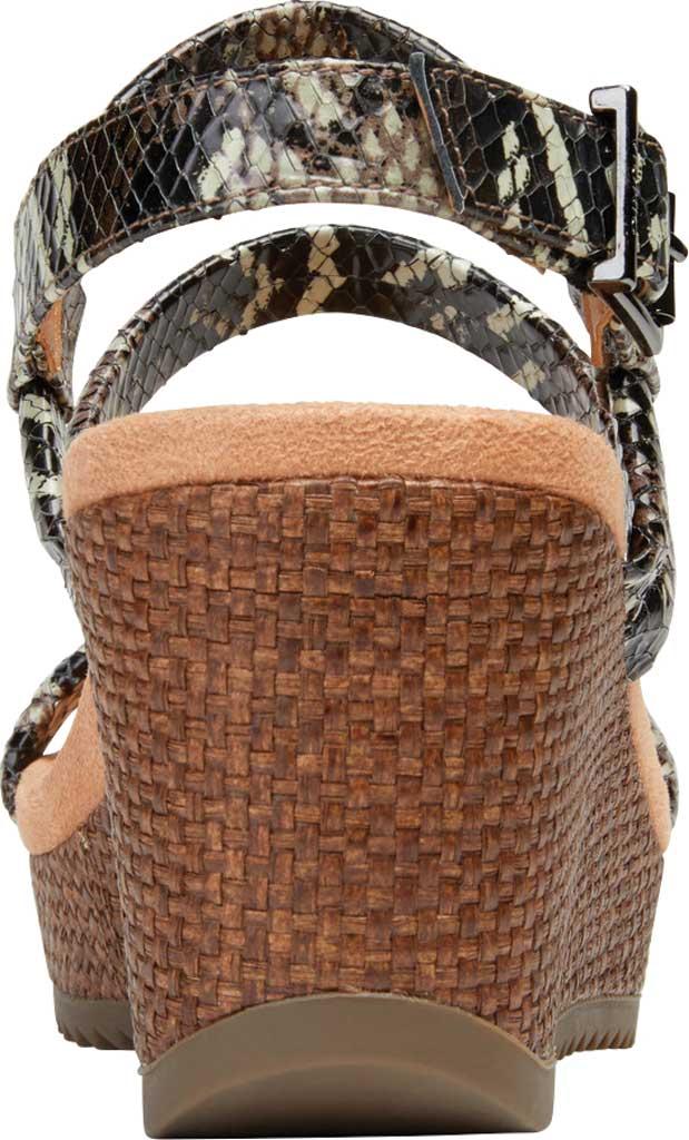 Women's Vionic Kora Strappy Wedge Slingback, Black Raffia Boa Leather, large, image 4