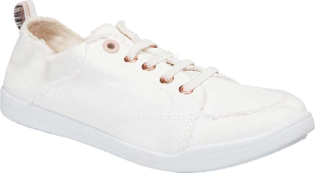 Women's Vionic Pismo Sneaker, Cream Eco-Friendly Cotton, large, image 1