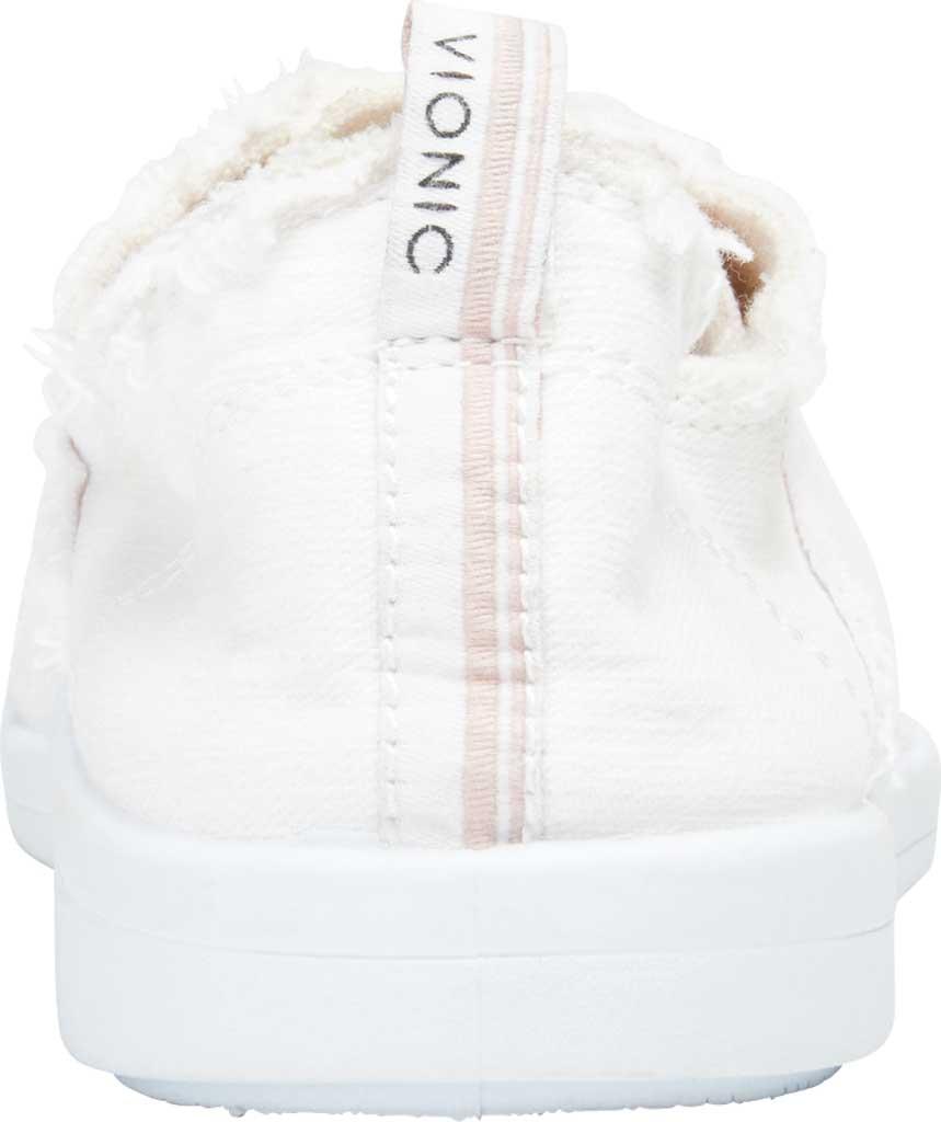 Women's Vionic Pismo Sneaker, Cream Eco-Friendly Cotton, large, image 4