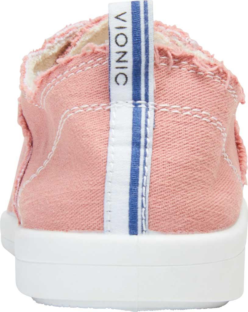 Women's Vionic Pismo Sneaker, Dusty Rose Eco-Friendly Cotton, large, image 4