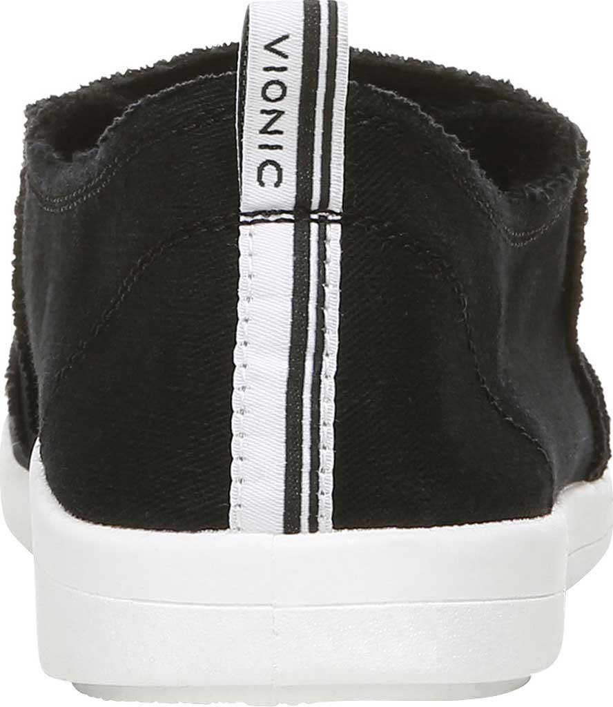 Women's Vionic Malibu Slip On Sneaker, Black Eco Canvas, large, image 4