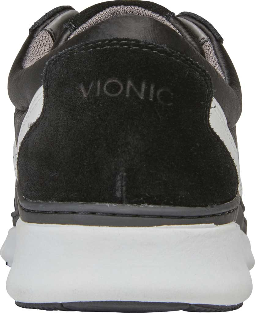 Women's Vionic Nana Lace Up Sneaker, Black Satin/Suede, large, image 4