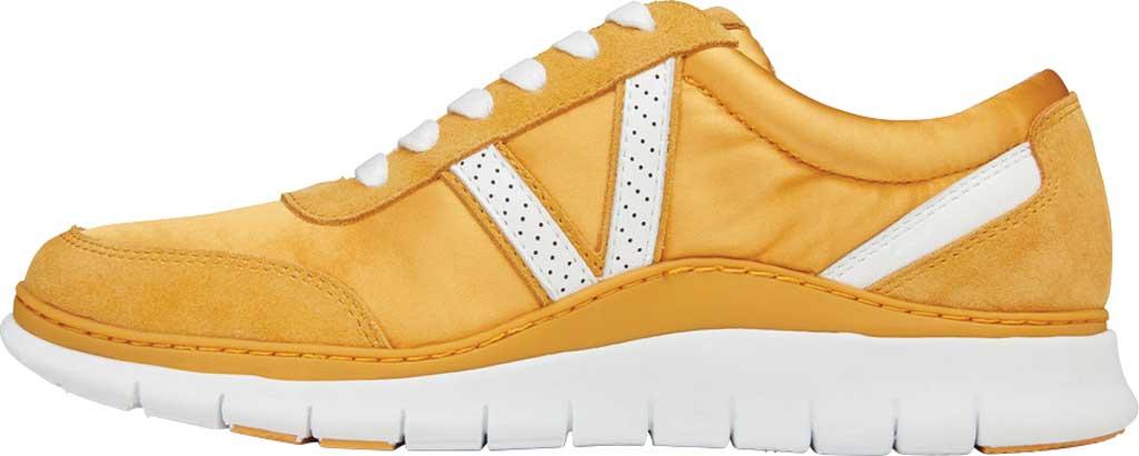 Women's Vionic Nana Lace Up Sneaker, Mustard Satin/Suede, large, image 3