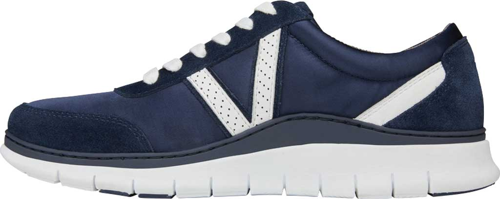 Women's Vionic Nana Lace Up Sneaker, Navy Satin/Suede, large, image 3