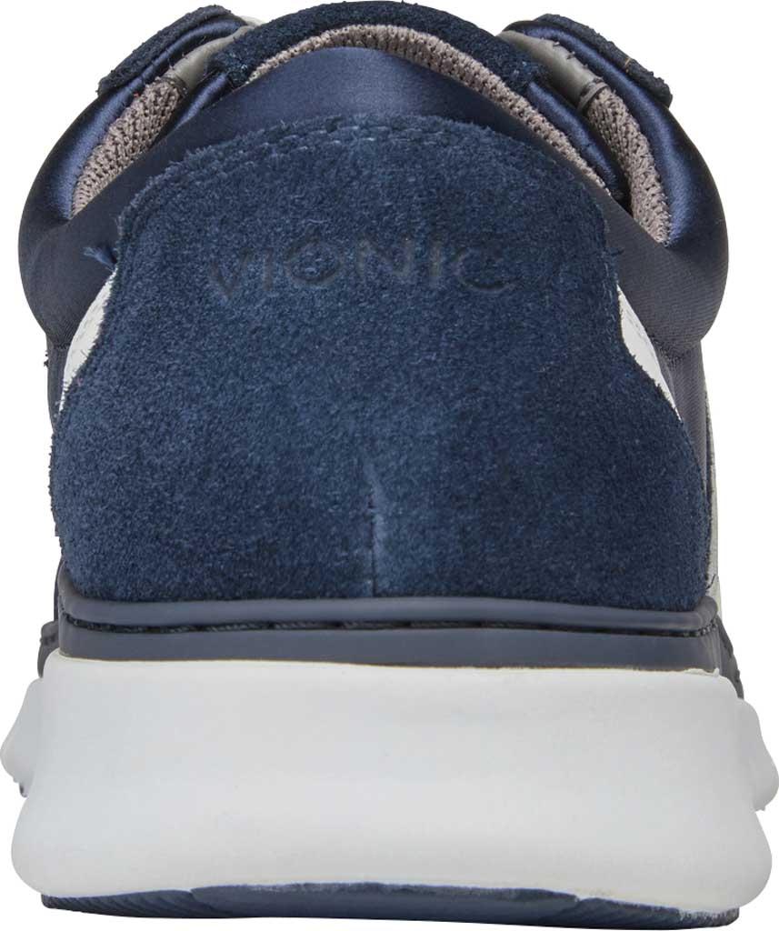 Women's Vionic Nana Lace Up Sneaker, Navy Satin/Suede, large, image 4