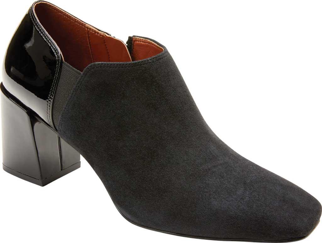Women's Vionic Linda Heel Shootie, Black Suede/Patent, large, image 1