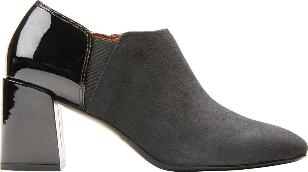 Women's Vionic Linda Heel Shootie, Black Suede/Patent, large, image 2