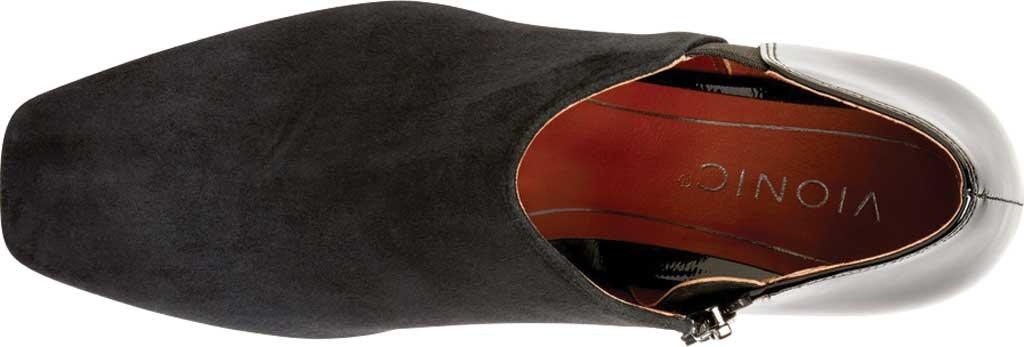 Women's Vionic Linda Heel Shootie, Black Suede/Patent, large, image 3