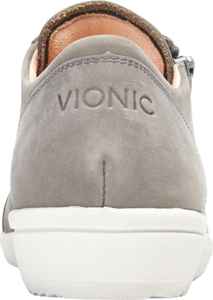 Women's Vionic Abigail Lace Up Sneaker, Slate Grey Nubuck, large, image 4
