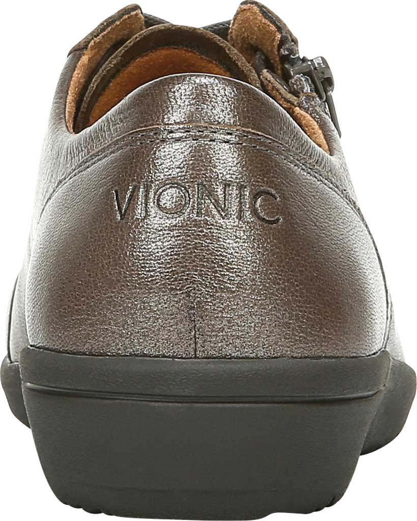 Women's Vionic Abigail Lace Up Sneaker, Pewter Metallic/Leather, large, image 4
