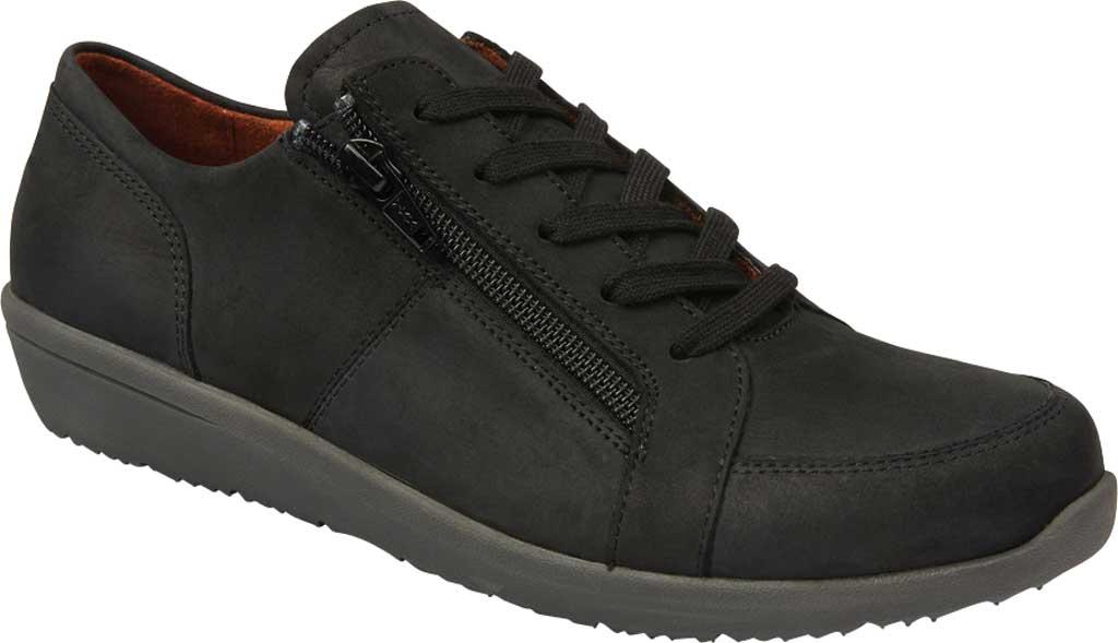Women's Vionic Abigail Lace Up Sneaker, Black Nubuck, large, image 1